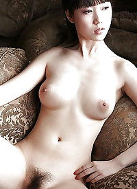 Beautiful Asian Women with Natural, Hairy Pussy