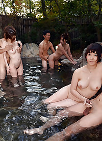 Erotic Japanese MILFs - Hot spring trip