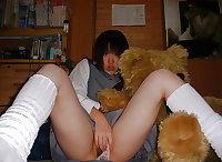Classic japanese high school slut.