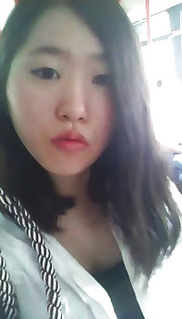 Korean girl takes self pics