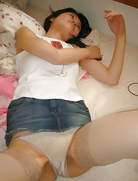 Horny Japanese Wife Naughty Playtime Photos