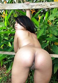 Fat Thai Teen with big boobs and long dark labia