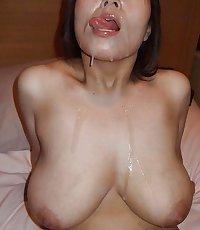 Creamy Asian Face Cum