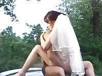 Korean bride fucked in public