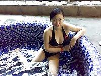 Taiwan girl to take a hot spring